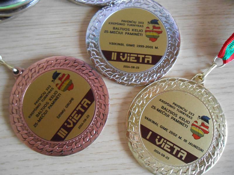 Medaliai turnyrui