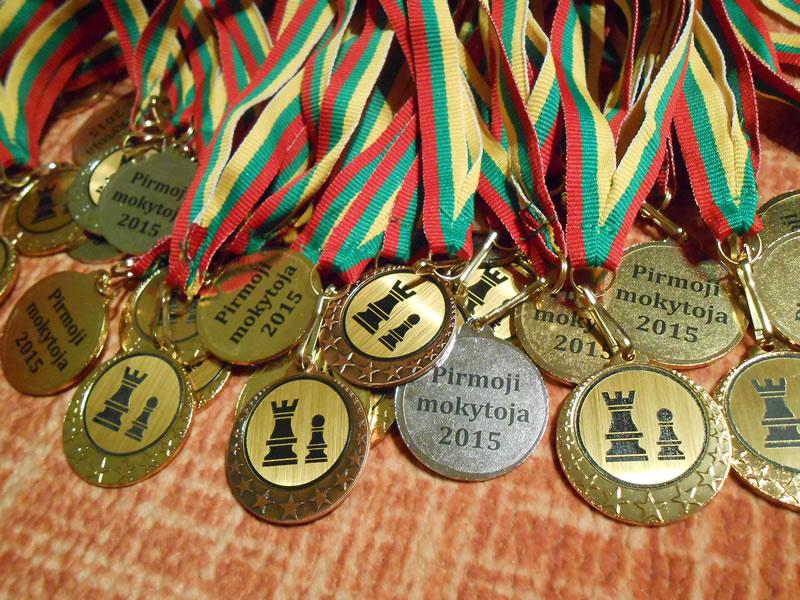 Medaliai mokytojai