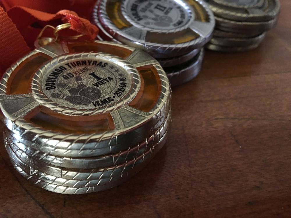 Medaliai boulingui