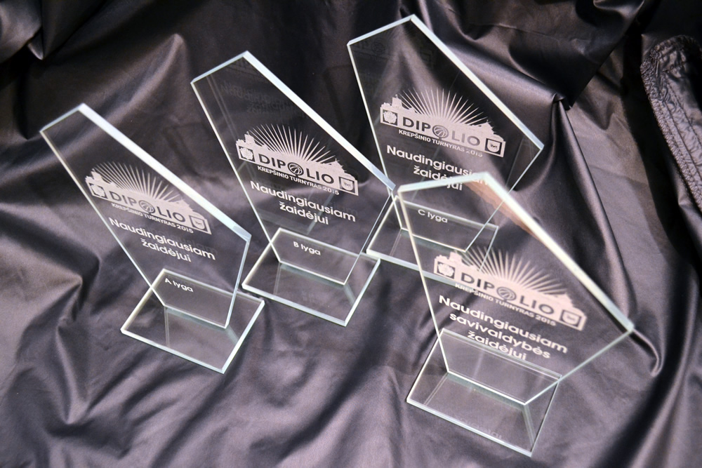Stikliniai apdovanojimai turnyrui