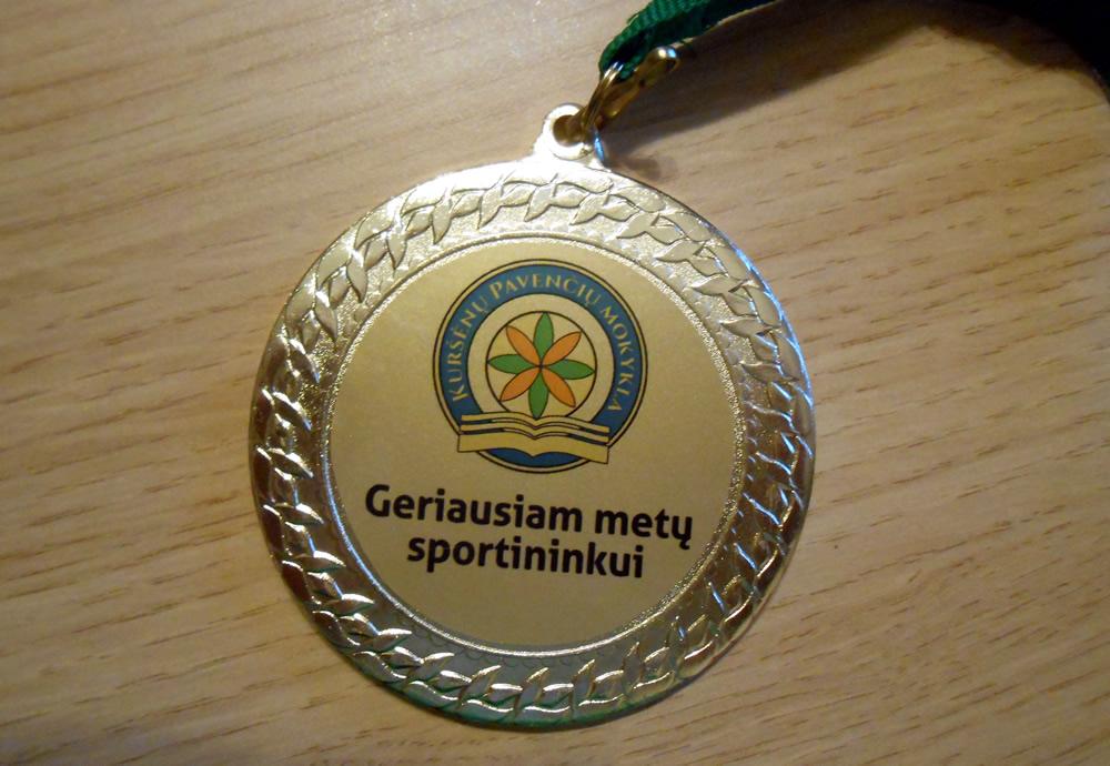 Medalis geriausiam sportininkui
