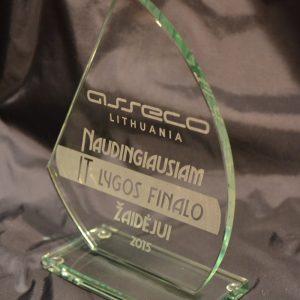 Stiklinis apdovanojimas naudingiausiam žaidėjui