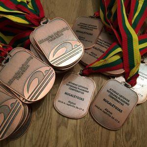 Medaliai plaukimo federacijai