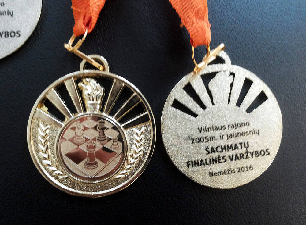 50mm medaliai šachmatų turnyrui