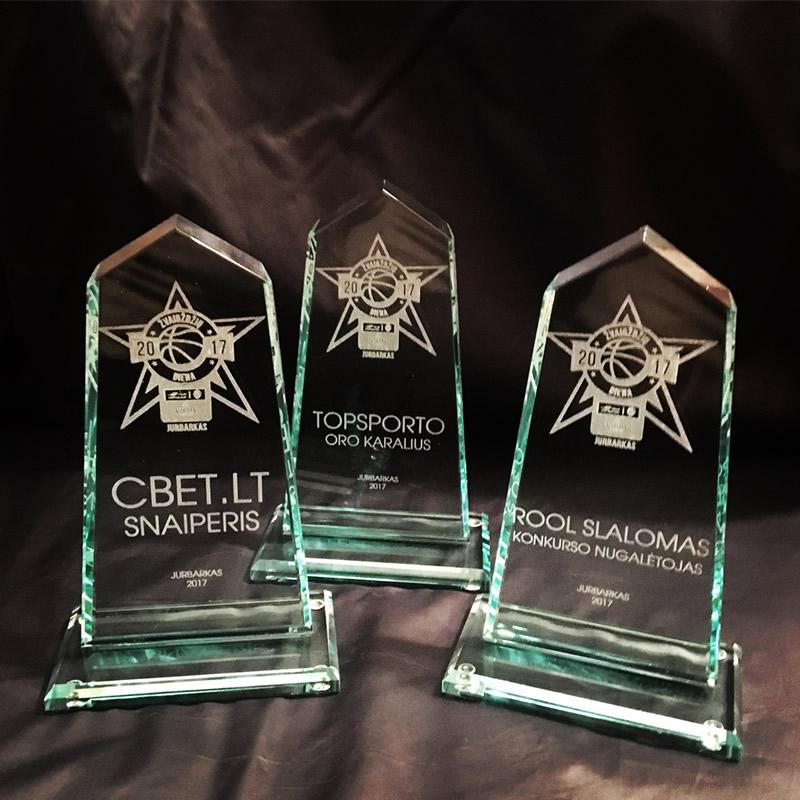 RKL stikliniai apdovanojimai
